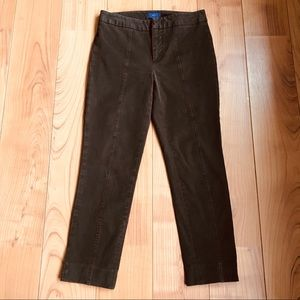 NYDJ Lift Tuck Technology Ankle Brown Pants